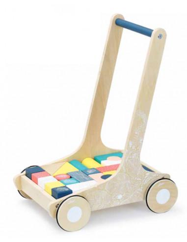 Chariot de marche avec cubes Sous la...