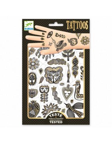 Tatouages Golden chic - Djeco