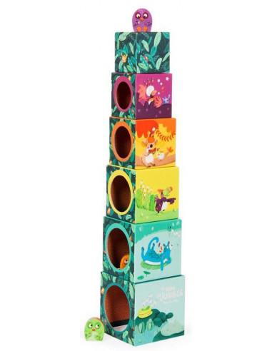 Cubes empilables Dans la jungle -...