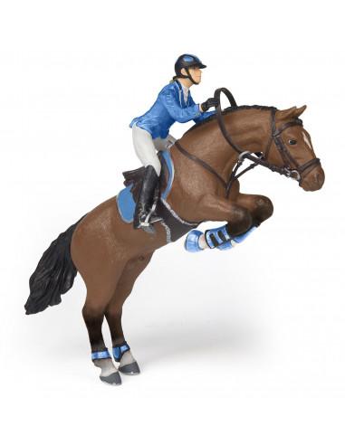Figurines cheval de saut d'obstacle...