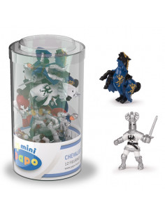 12 mini figurines...