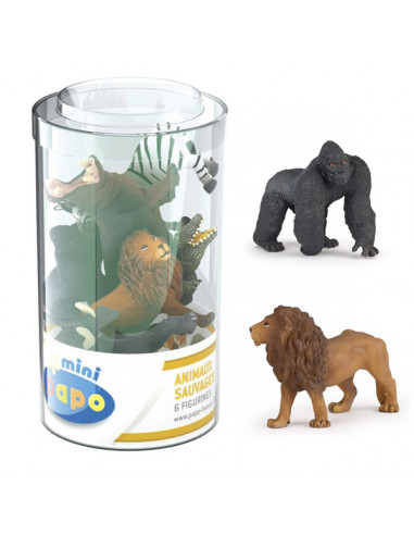 6 mini figurines vie sauvage avec...