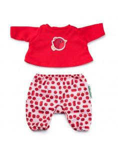 Pyjama pour poupon Rouge...