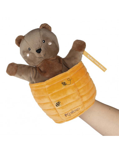 Ted l'ours marionnette cache cache -...