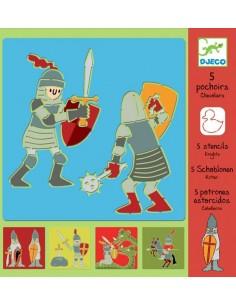Pochoirs chevaliers