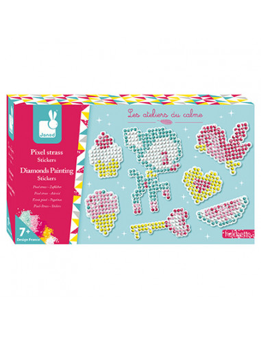 Pixel strass stickers - Les ateliers...