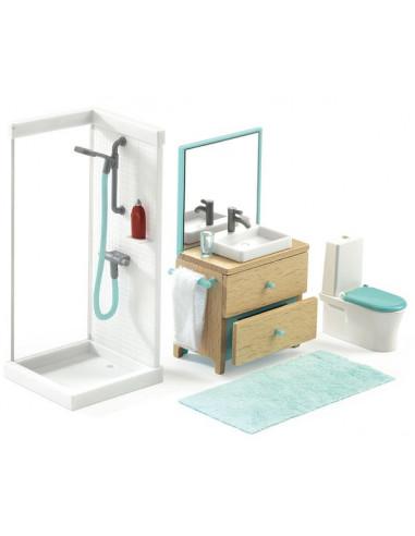 La salle de bain - maison de poupée...