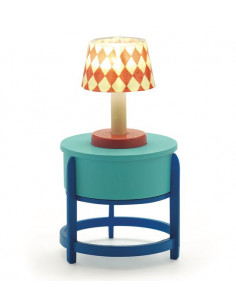 Lampe sur table ronde -...