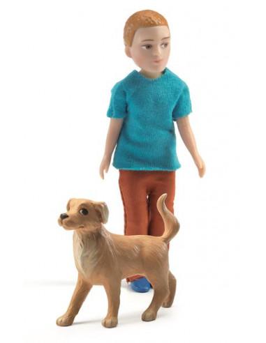 Figurines Xavier et son chien -...