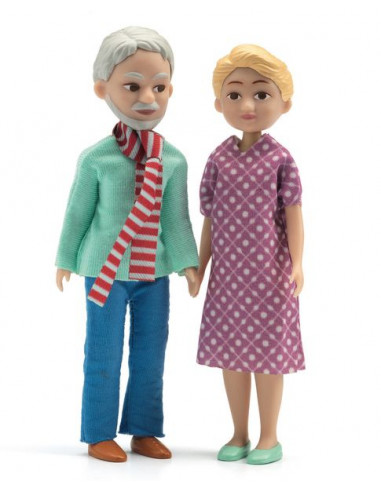 Figurines les grands parents - maison...
