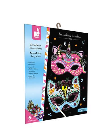 Scratch art Masques de fête - Les...