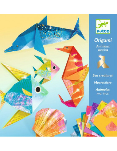 Origami Animaux Marins Activite Manuelle Djeco Lapouleapois Fr