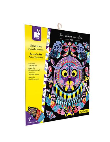 Scratch art Mandalas animaux - Les...