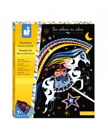 Scratch art Chevaux et licornes - Les...