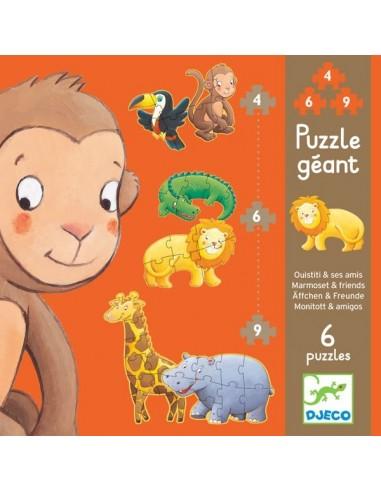 Puzzle géant Ouistiti & ses amis - Djeco