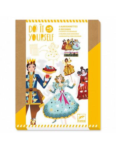 4 marionnettes à décorer Cendrillon -...