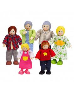 Famille de 6 poupées en...