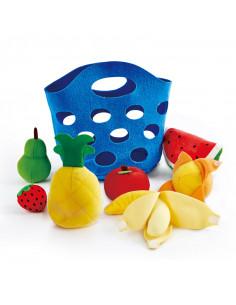 Panier de fruits en tissu -...