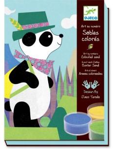 Sables colorés panda et ses copains