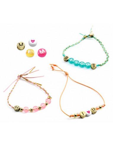 Bijoux à créer perles alphabets - Djeco