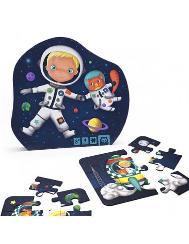 4 puzzles évolutifs astronaute