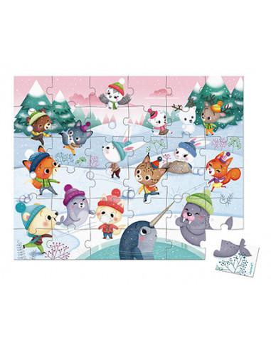 Puzzle bataille de boule de neige 36...