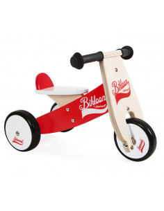Porteur tricycle Bikloon rouge
