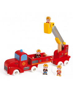 Grand camion de pompiers...