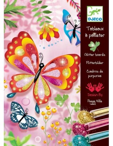 Tableau à pailleter papillons - Djeco