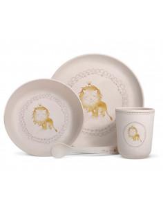 Coffret vaisselle bambou lion