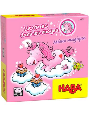 Mémo magique licornes dans les nuages...