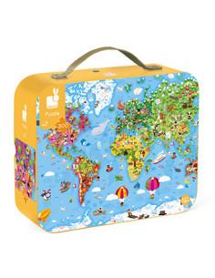 Puzzle géant carte du monde...