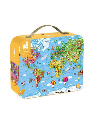 Puzzle géant carte du monde - Janod