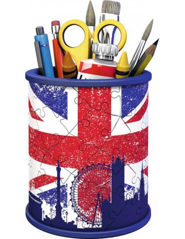 Puzzle 3D pot à crayons Union jack -...