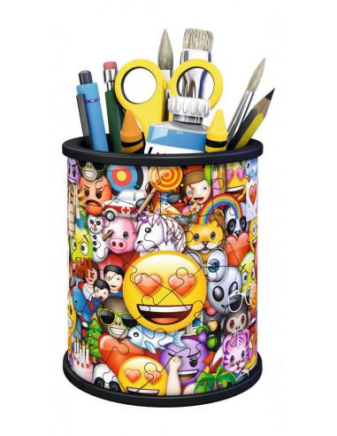 Puzzle 3D pot à crayons émoji -...