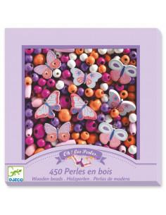 Perles en bois papillons -...
