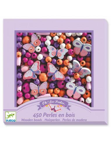 Perles en bois papillons - Djeco