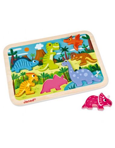Chunky puzzle dinosaures - Janod