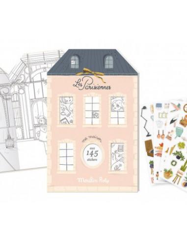 Cahier de stickers Les parisiennes -...