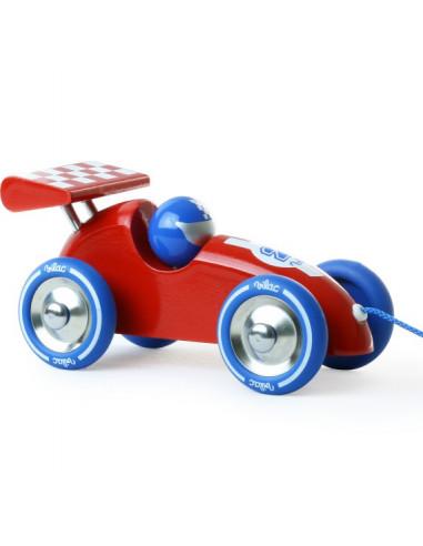 Voiture de course rouge et bleue - Vilac