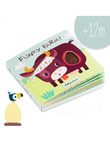 Funky farm livre tactile et sonore -...