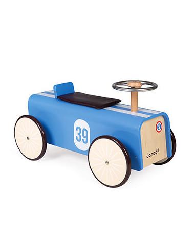 Porteur voiture bleu - Janod