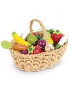 Panier de fruits et légumes...