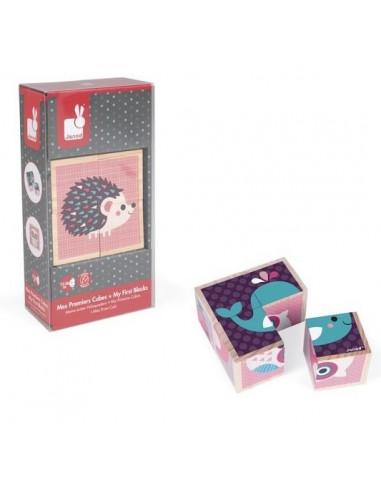 Cubes en bois bébés animaux - Janod