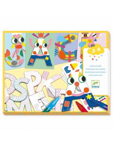 Créer avec des formes lettres - Djeco
