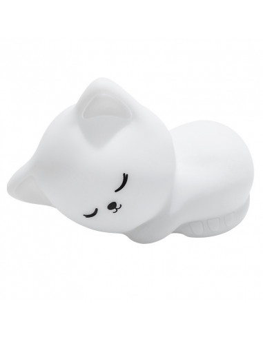 Veilleuse chat Lil'cat blanc