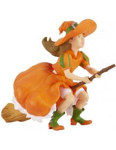 Figurine sorcière sur balai...