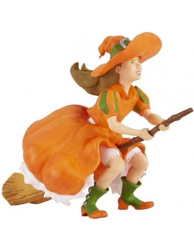 Figurine sorcière sur balai - Papo