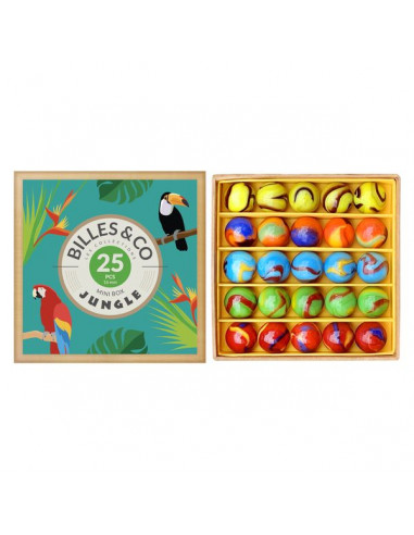 Coffret de 25 billes Jungle - Billes...