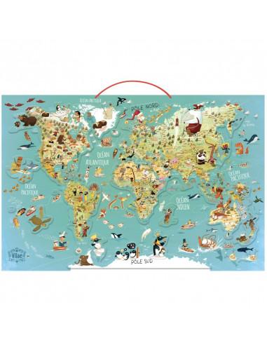 Carte du monde fantastique magnétique...